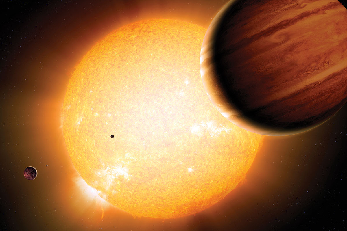 Gang Of Gas Giants May Have Tilted Distant Planet System