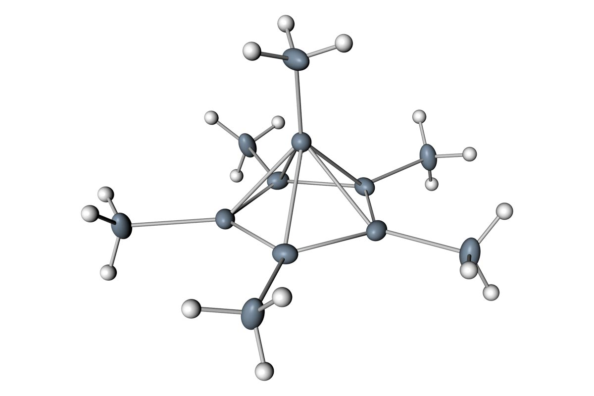 Carbon seen bonding with six other atoms for the first