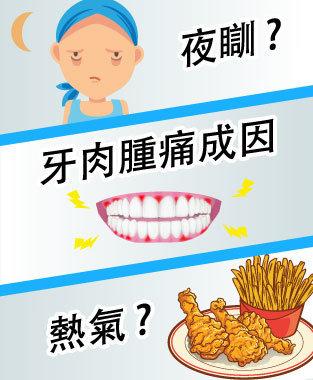 牙肉腫痛、牙肉出血。是熱氣、熬夜引致?3招助你舒緩