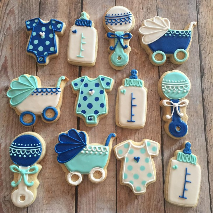 ... Boy baby shower cookies. Check Availability
