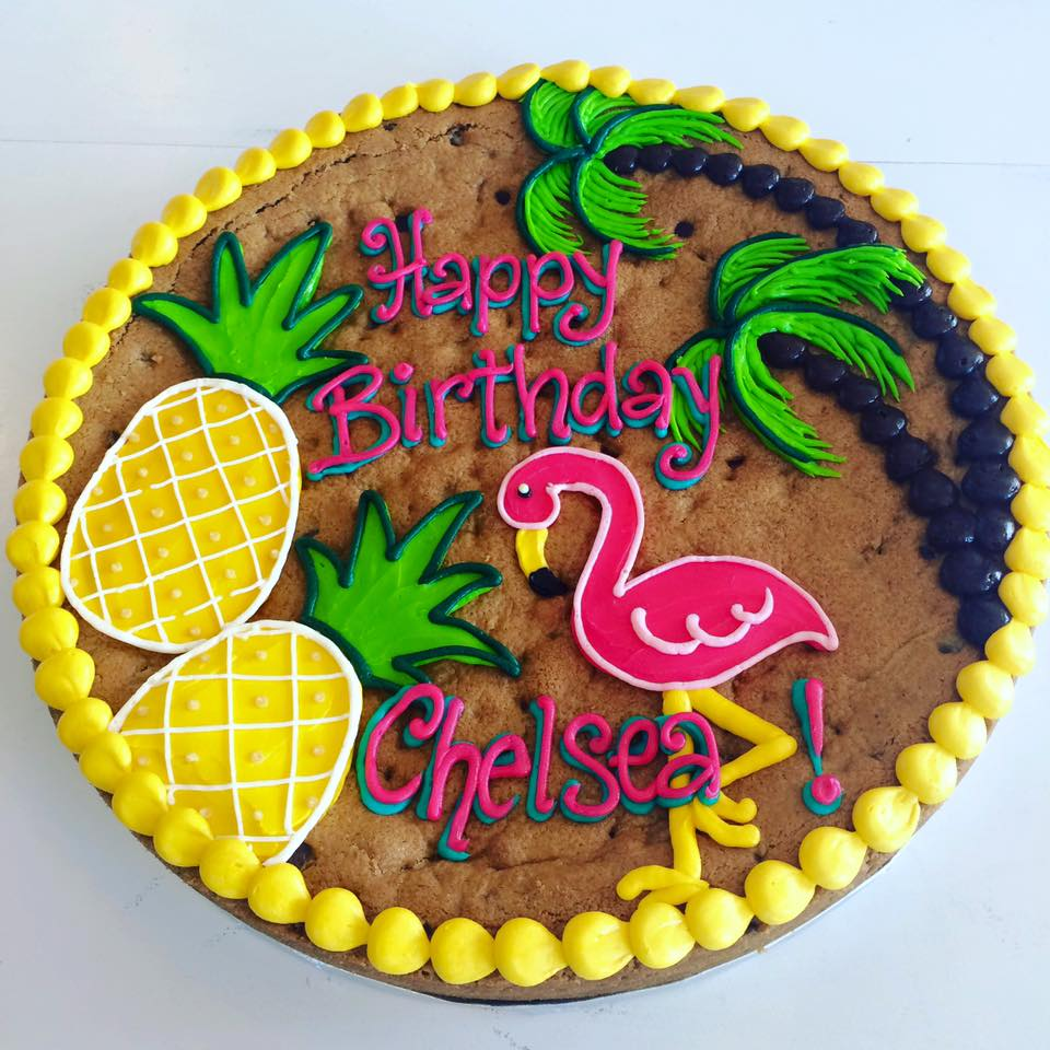 Tropical Flamingo And Pineapple Cookie Cake Hayley Cakes