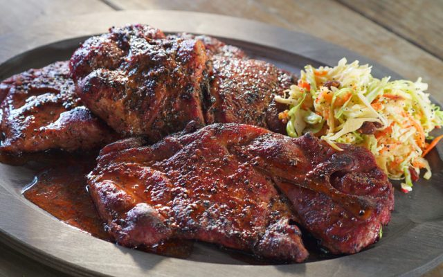 Monroe County Pork Steaks with Spicy Vinegar Dip