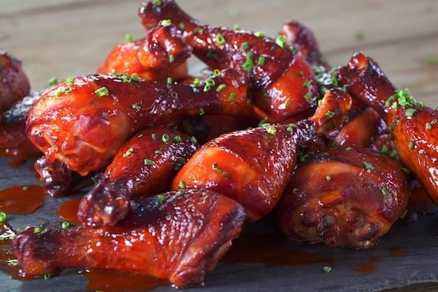 Maple-Sriracha Glazed Chicken Drumsticks