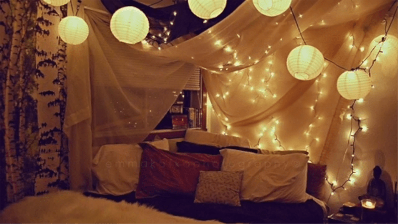 Lighted Wall or Bed Canopy for DIY Decor  Curiouscom