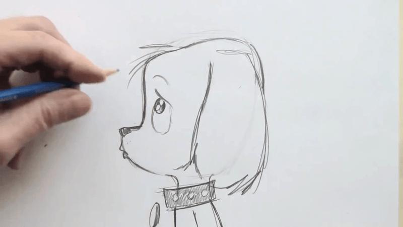 How to Draw a Cute Cartoon Puppy  Curiouscom