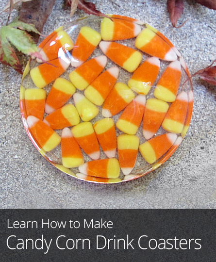 Halloween DIY Candy Corn Drink Coasters  Curiouscom
