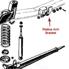 Early Bronco Wiring Diagram Software To Draw Er Front Suspension Components Toms Parts Radius Arm Brackets Stock Replacement Pair