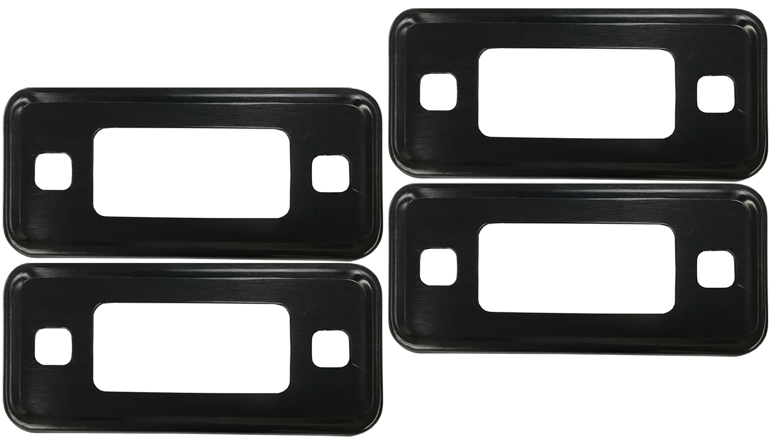 hight resolution of black marker light bezel kit 70 77 ford bronco set of 4