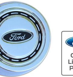 oe style factory horn button chrome 66 73 ford bronco [ 2611 x 1469 Pixel ]