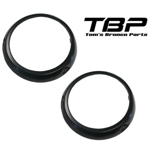 small resolution of black headlight bezel rings 66 70 ford bronco pair