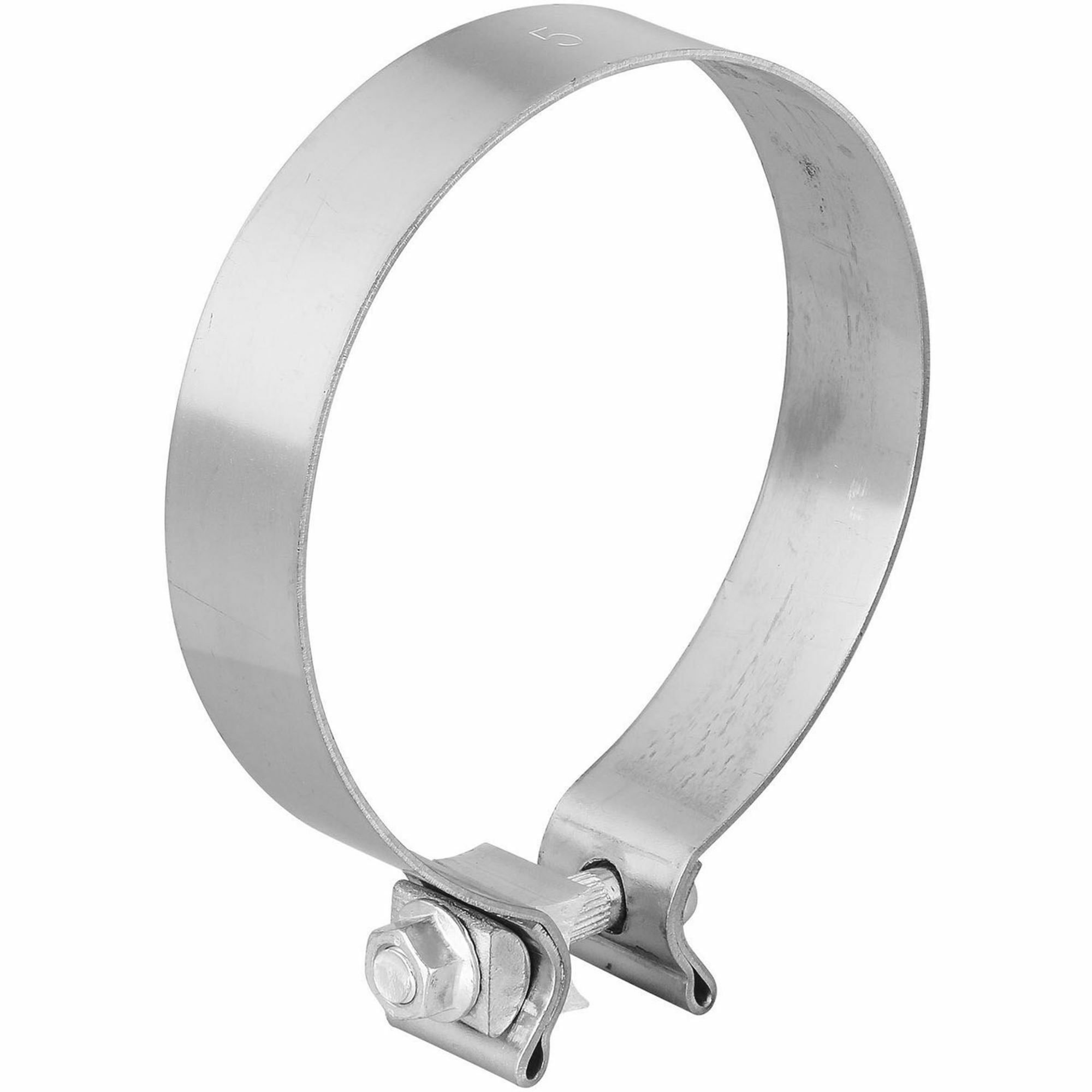 totalflow tf 500ss single bolt exhaust muffler clamp band 5 inch