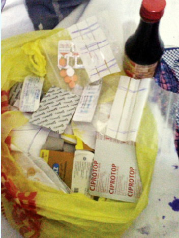 The drugs Amina bought at the chemist