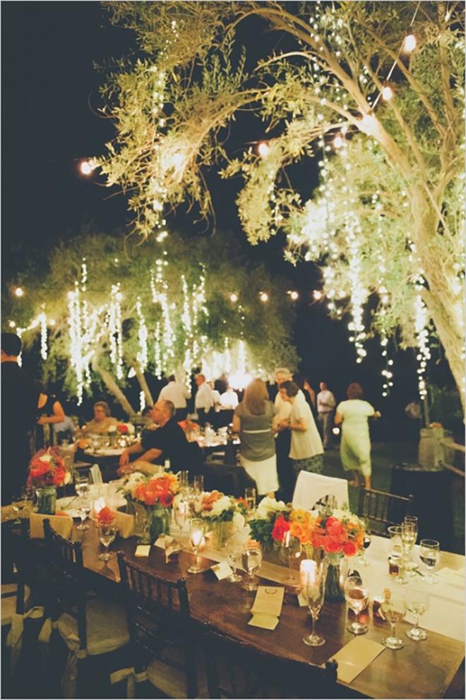 Fall Wedding Lighting