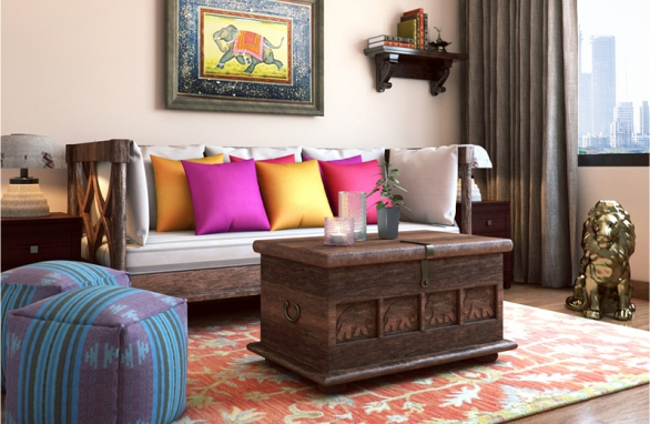 Traditional Indian Modern Living Room