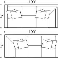 Left Arm Return Sofa 3 Cushion Bed Slipcover 11lsr 11rsr Right Massoud