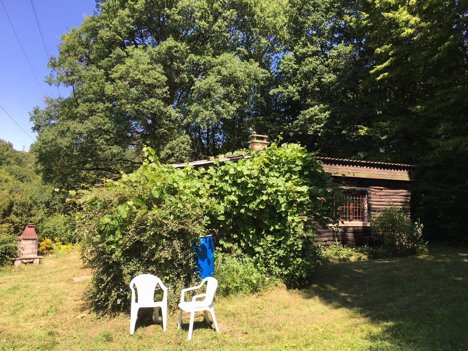 maison de loisirs sur terrain boise