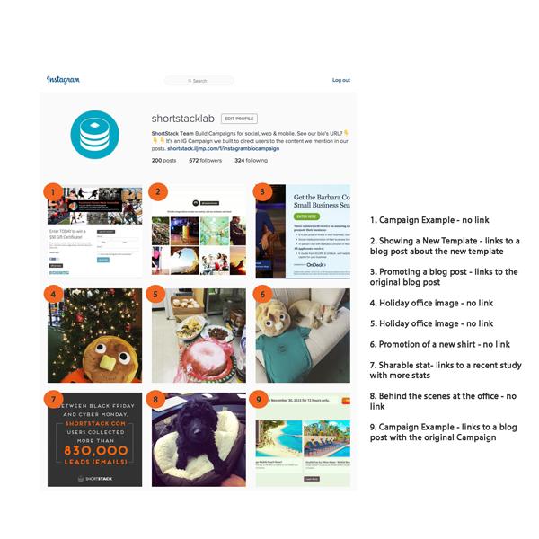 Weekly Campaign Idea Instagram Interactive Gallery ShortStack