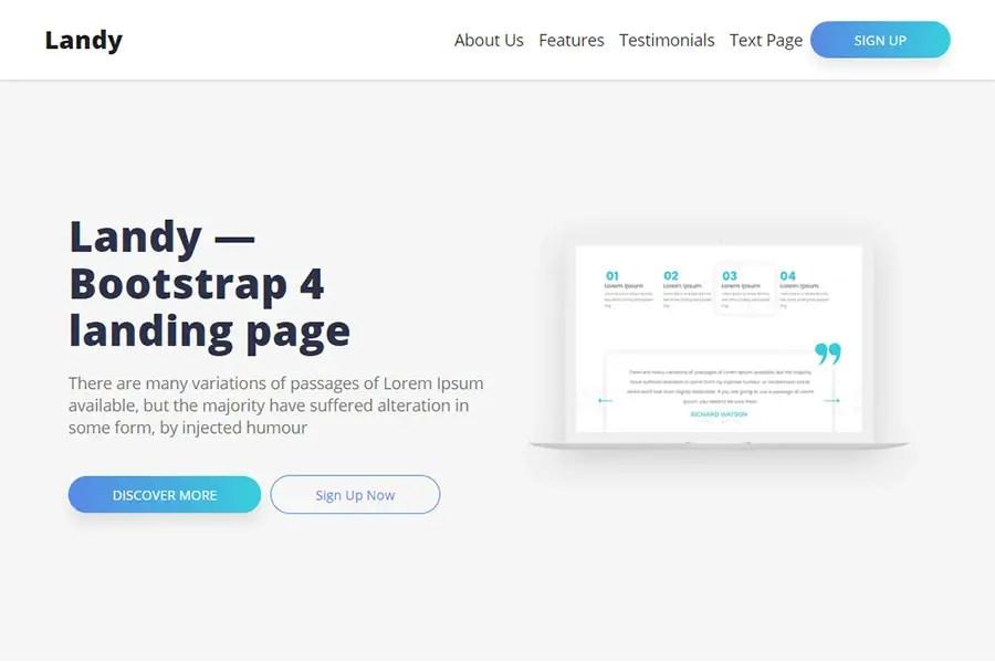 Appton Free Bootstrap 4 App Landing Page 6 Colour