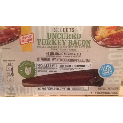 Calories in Turkey bacon microwaved - 1 slice from USDA