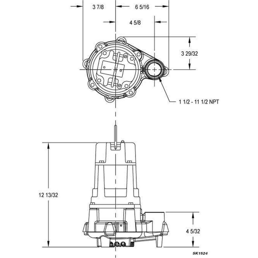 medium resolution of zoeller submersible sump pump 1 hp input horsepower auto intermittent motor duty class cast iron 1 phase 115v ac gamut
