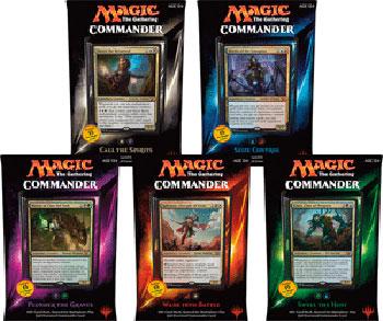 mtg commander 2015 decks