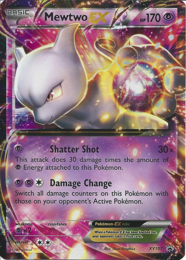 Mewtwo Xy107 Holo Promo - Triple Power Tin Exclusive