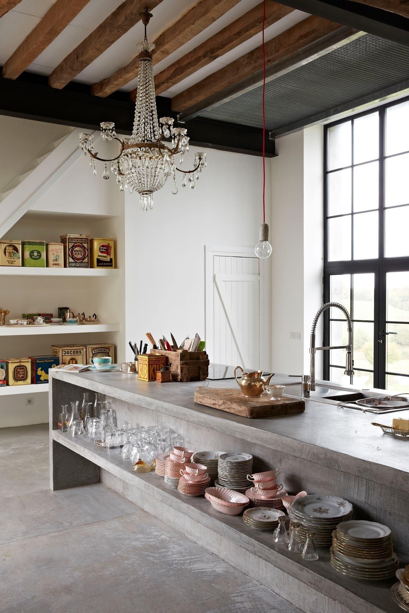 10x de mooiste keukens met beton  Alles om van je huis je
