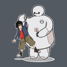 Big Hero 6 - Baymax and Hiro Shirts  Design by NinjaKlee Baymax was designed to care. Baymax and Hiro Hamada from Big Hero 6 © Disney