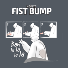How to FISTBUMP Shirts  Design by soulful simple how to fist bump in baymax style