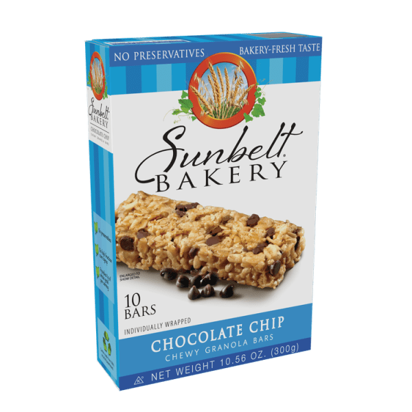 McKee Foods Sunbelt Bakery Chocolate Chip Granola Bars 10