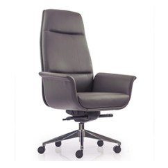 Revolving Chair Hsn Code Covers South Wales Buy Eminent High Back Grey Leather Ergonomic Office At Durian