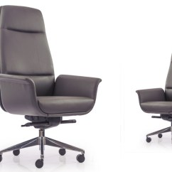 Revolving Lounge Chair Oversized Chairs For Living Room Buy Eminent High Back Grey Leather | Ergonomic Office At Durian