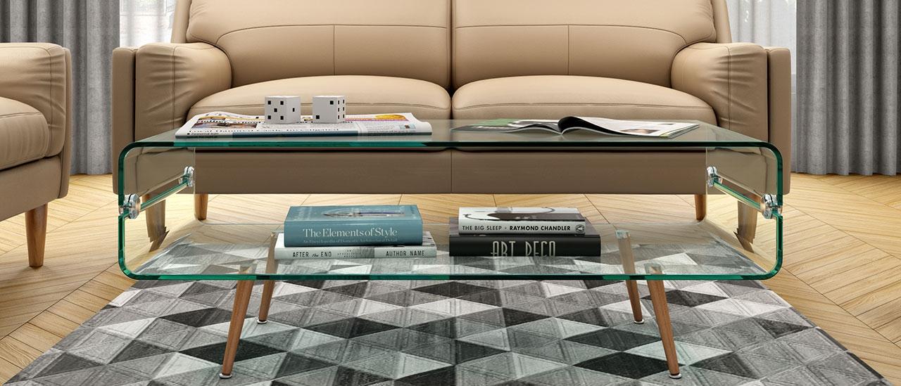 fox glass coffee table