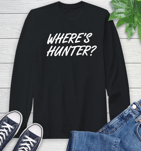 Where Is Hunter Long Sleeve T-Shirt