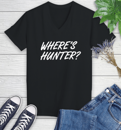 Where Is Hunter Women's V-Neck T-Shirt