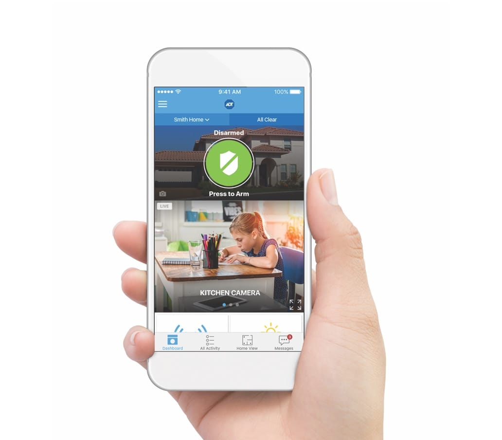 hight resolution of mobile water detector alarm alerts with adt pulse