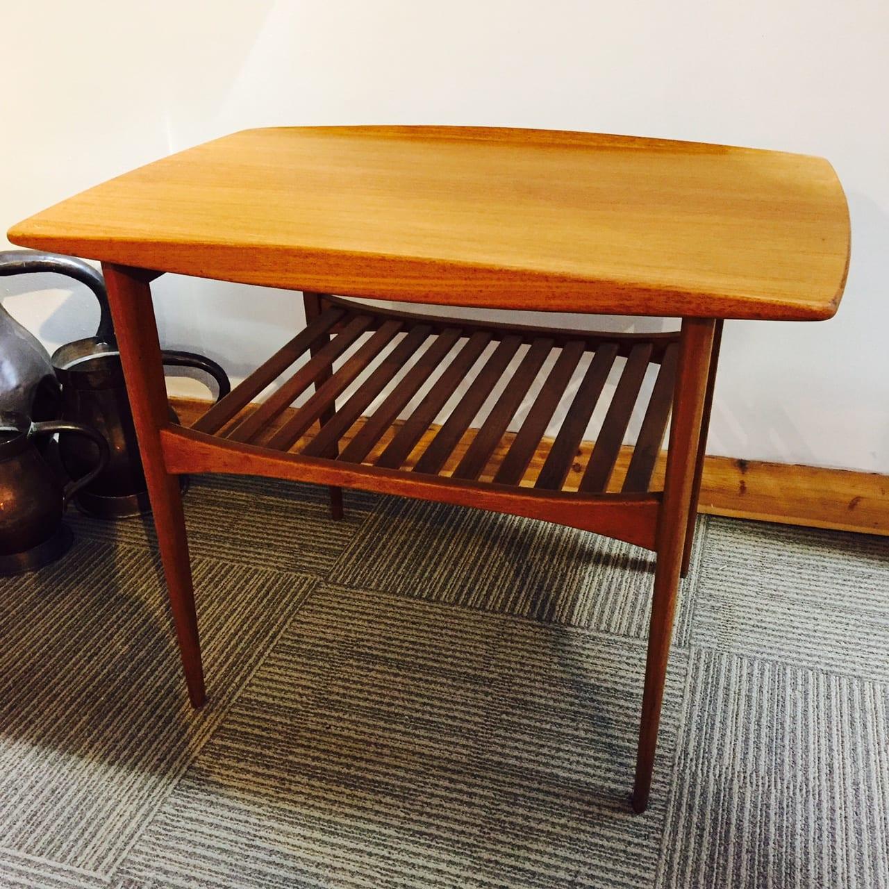 france sons mid century teak side table