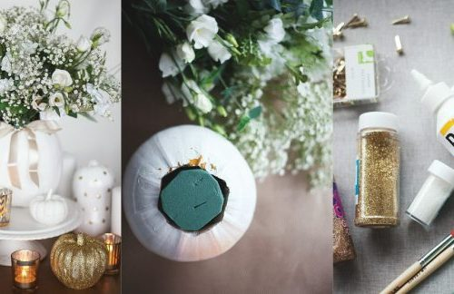 DIY pumpkin wedding centrepiece tutorial