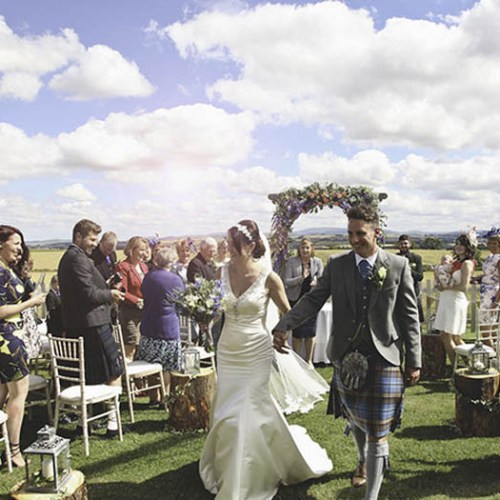 family wedding ideas: walking down the aisle