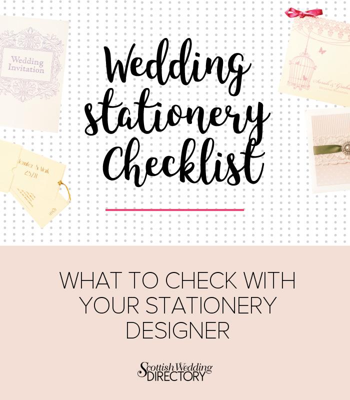 your wedding stationery checklist scottish wedding directory