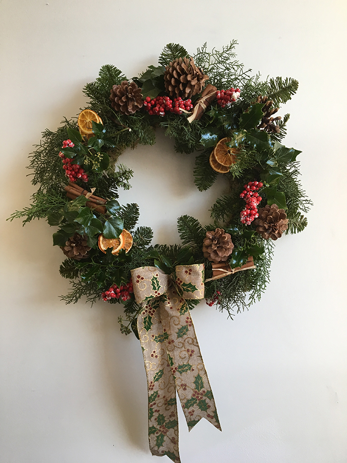Day 8: Win A Luxury Christmas Door Wreath From The Floral Design Boutique  [Christmas Giveaway]