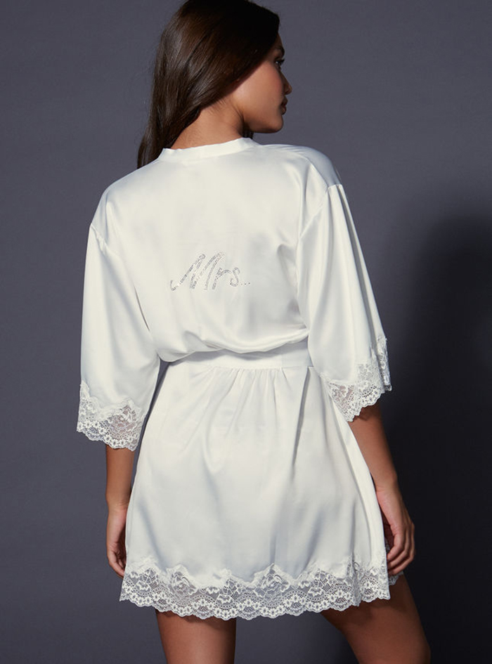Stylish bride and bridesmaid dressing gowns Boux Avenue