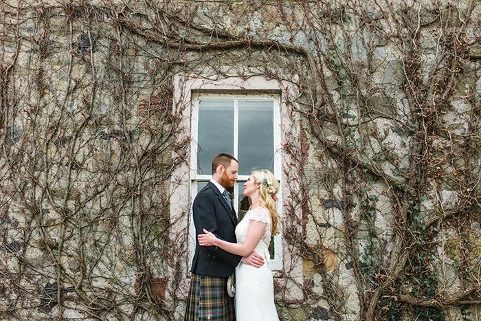 Dalduff Farm rustic barn wedding The Gibsons bride and groom