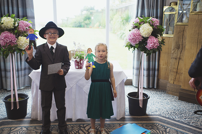 Real Wedding at The Waterside Hotel Ayrshire. Laura A Tiliman Photography. Children ceremony