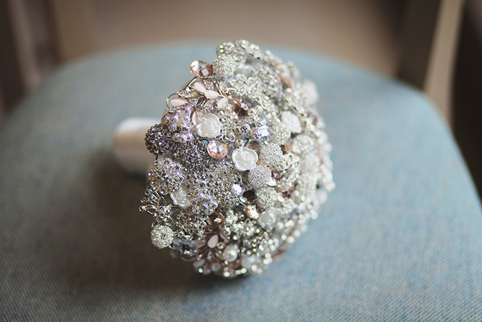 Real Wedding at The Waterside Hotel Ayrshire. Laura A Tiliman Photography. Brooch bouquet