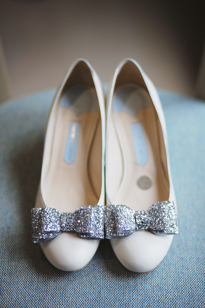 Real Wedding at The Waterside Hotel Ayrshire. Laura A Tiliman Photography. Bride's Charlotte Mills shoes