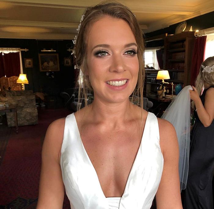 bridal MUA and hairstylist Natalie Mackenzie