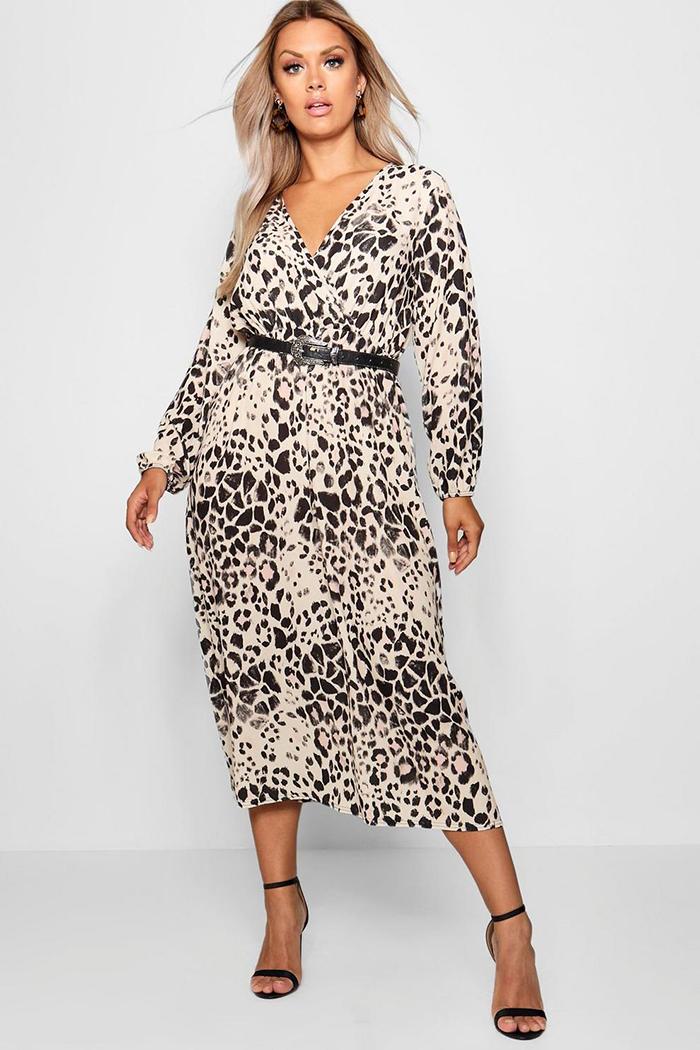 7a8bb78d5c298 BUY | Black Chain Print Frill Detail Floaty Midaxi Dress (£10). BUY | Plus  Leopard Midi ...