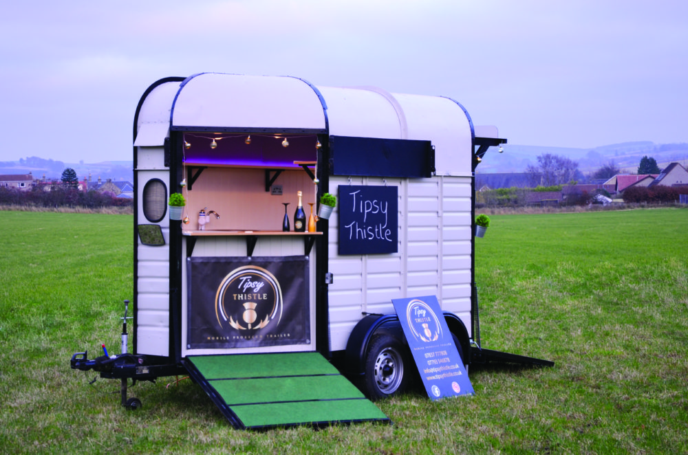 Tipsy Thistle Mobile Prosecco trailer scotland