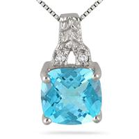 blue diamond pendant